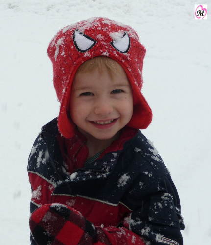 Spiderman Playing in the Snow