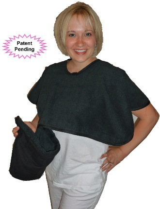 Peek-a-Bye-Baby Cover functions as Nursing Cover and Burp Cloth
