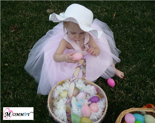 1 year old with Easter basket