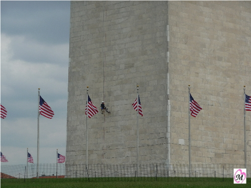 engineer finished with rappelling washington monument