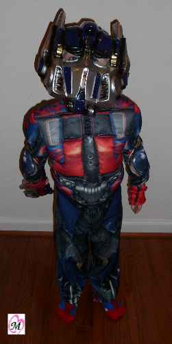 3 Year Old Wearing Optimus Prime Costume