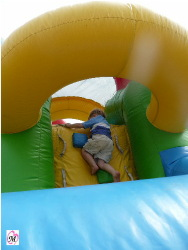 3 year old climbing bounce house