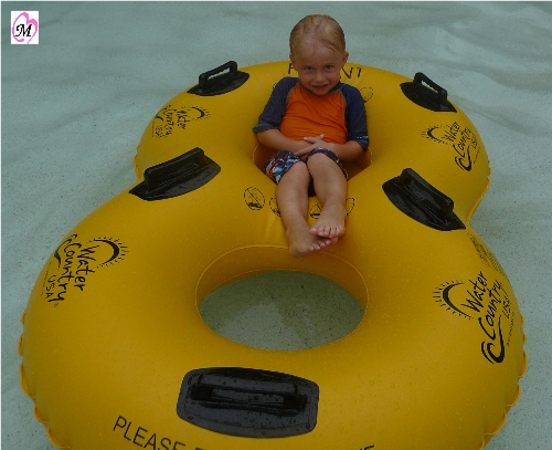 4 Year Old on Raft