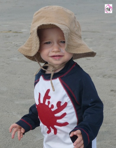 Toddler at beach
