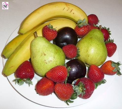 Delicious Plate of Fruit