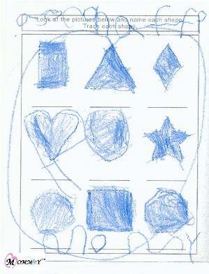 Preschool learn shapes - picture for Mommy