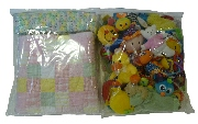 Organize soft baby items in eco-friendly PEVA bags