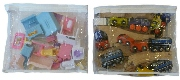 Store baby doll supplies, toy trains in clear bags