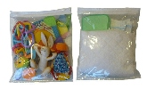 Keep diapers and wipes in clear bag can easily put in any travel bag...no more diaper bags!